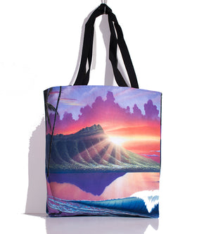 """Early Waikiki"" Tote Bag - SeboArt.com"