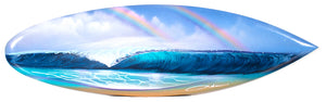 """Early at Pipeline"" Original Painting on Mini Surfboard"