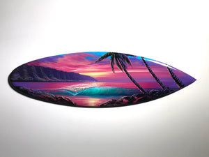 """Forever Love"" 24"" Original Painting on Mini Surfboard"