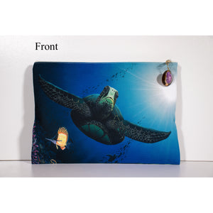 """Honu Reef"" Accessories Pouch - SeboArt.com"