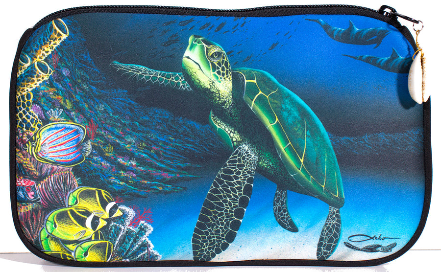 """Honu Reef"" Cosmetic Pouch"