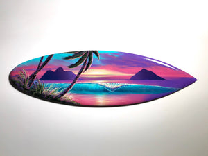 "Ku'uipo"" 24"" Original Painting on Mini Surfboard"