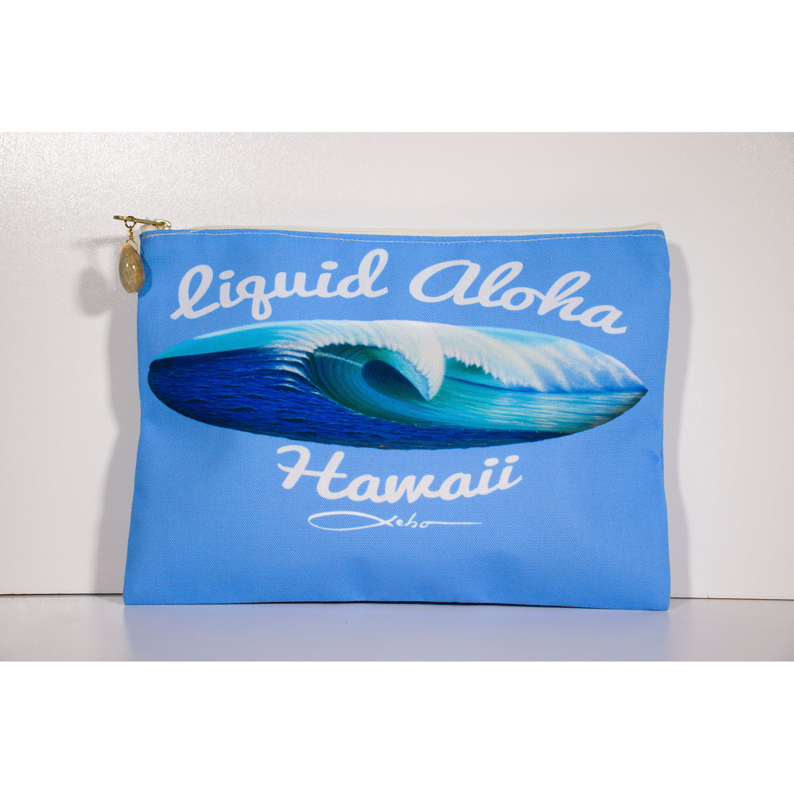 """Liquid Aloha"" Accessories Pouch - SeboArt.com"