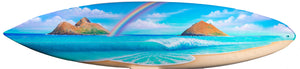 """Lovely Day"" Original Painting on 7 foot 4 inch real surfboard"