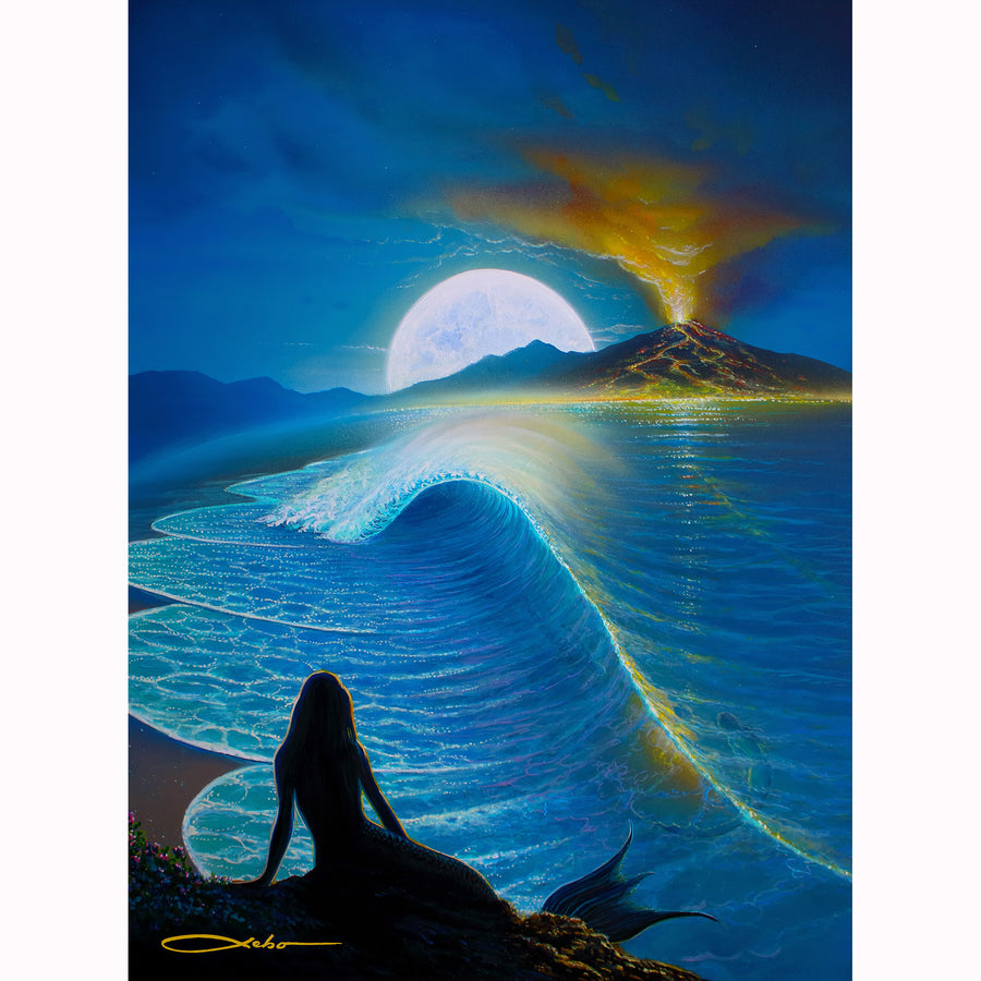 """Moonlit Mermaids"" Limited Edition Fine Art Giclee - SeboArt.com"