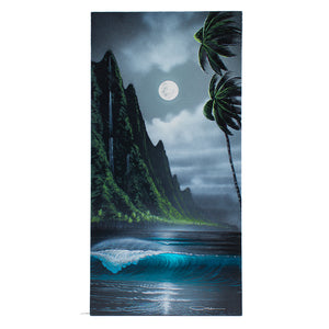 """Moonlight's Grace"" Original Painting on 12"" x 24"" Canvas - SeboArt.com"