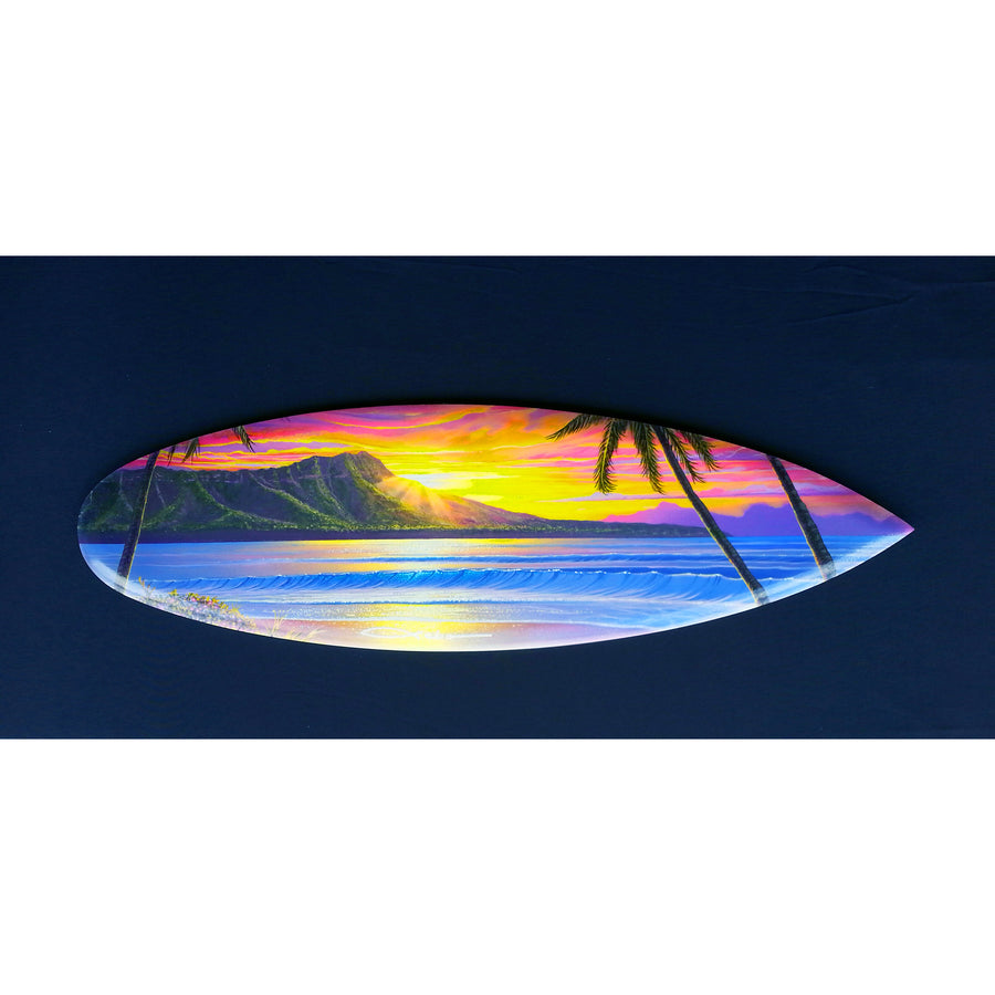 """Morning Glory"" Mini Surfboard Art Print"