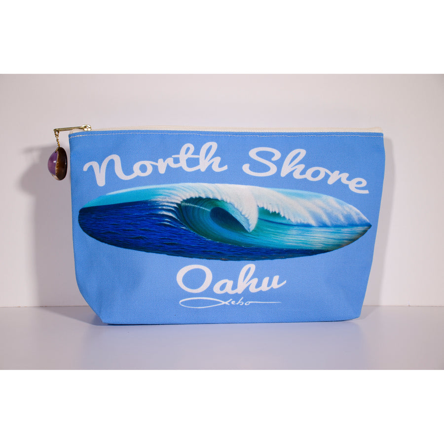 """North Shore Oahu"" Accessories Pouch - SeboArt.com"