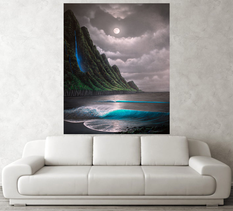 """""Na Pali Dream"" Original Painting on 36"" x 48"" X 2"" Gallery Wrapped Canvas ( SOLD )"