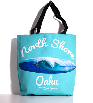 """North Shore Oahu"" Tote Bag - SeboArt.com"