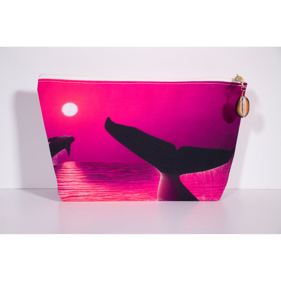 """Perfect Moment Pink"" Accessories Pouch - SeboArt.com"