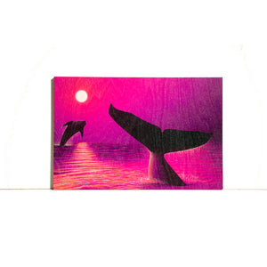 """Perfect Moment Pink"" Wood Block Print - SeboArt.com"