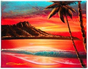 """Red Morning"" (SOLD) Original Painting on 11""x 14"" Canvas"