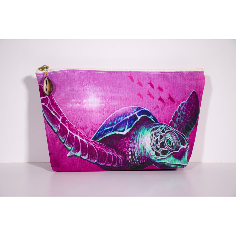 """Solo Honu Pink"" Accessories Pouch"