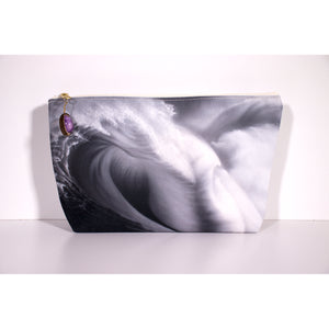 """Sublime Black and White"" Accessories Pouch - SeboArt.com"