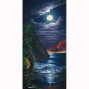 """Silent Night"" Open Edition Fine Art Giclee - SeboArt.com"