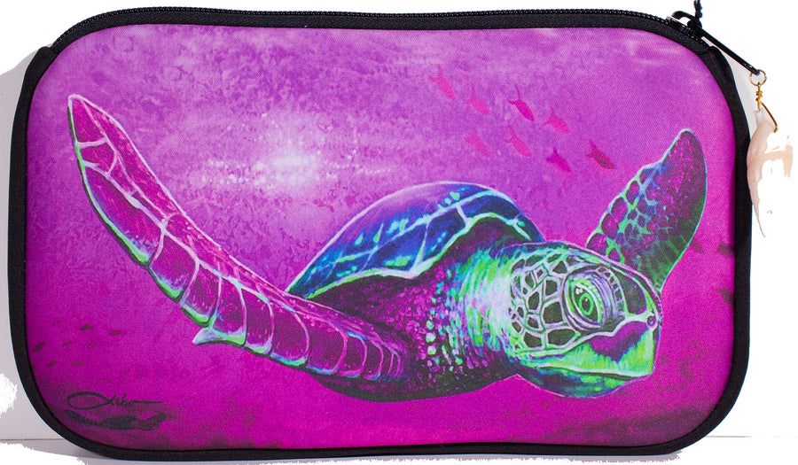 """Solo Honu Pink"" Cosmetic Pouch"