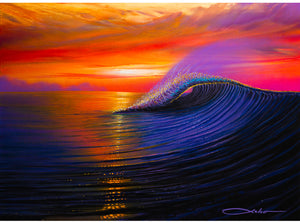 """Sunset Magic"" Original Painting on 16"" x 22"" Canvas with FREE Tote Bag"