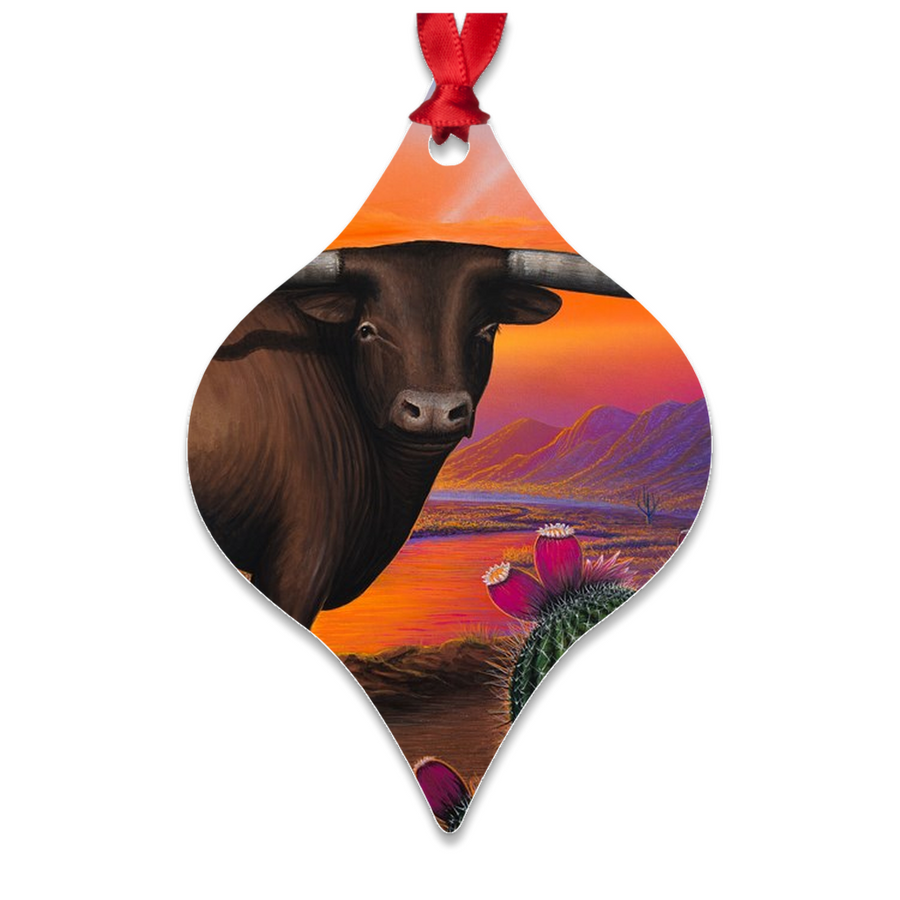 """Heart of A Bull"" Metal Ornaments"