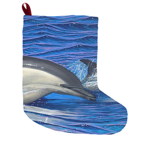 """Dolphin Blue"" Christmas Stockings"