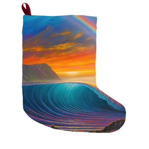 """Sunset at Shark's Cove"" Christmas Stockings"