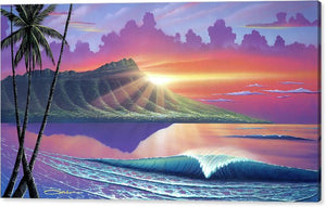 """Early Waikiki"" Limited Edition Fine Art Giclee - SeboArt.com"