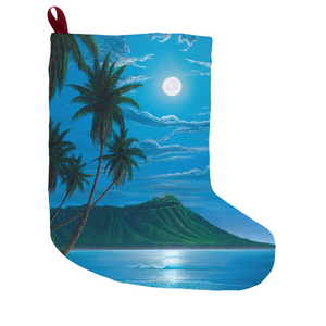"""Diamond Head Moon"" Christmas Stockings"