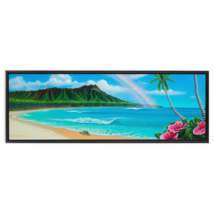 """Diamond Head Dream"" Framed Traditional Stretched Canvas"