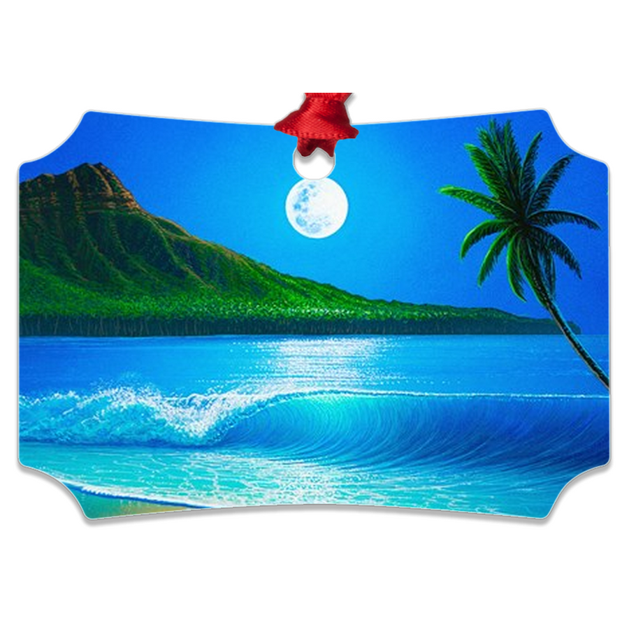 """Blue Hawaii"" Metal Ornaments"