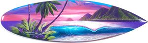 """Dreamy Morning"" Original Painting on Mini Surfboard"