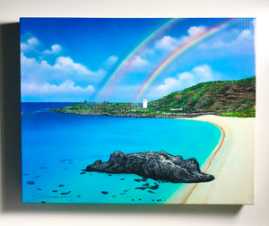 """Waimea Morning"" Original Painting on  16"" X 20"" X 1"" Canvas with FREE Tote Bag"