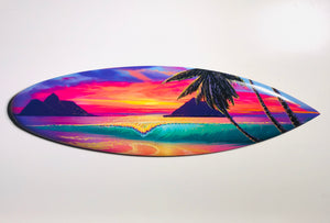 """Lanikai Breeze"" 24 inch Mini wooden surfboard with FREE Tote Bag"