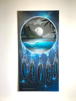 "12"" x 24"" ""Moonlit Dream"" Original Painting on Canvas Panel"