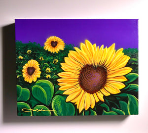 """Sunny Day"" Original Painting on  11"" X 14"" X 1"" Canvas with FREE Tote Bag"
