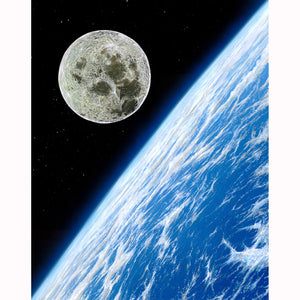 """Moon Over Earth"" Limited Edition Fine Art Giclee - SeboArt.com"