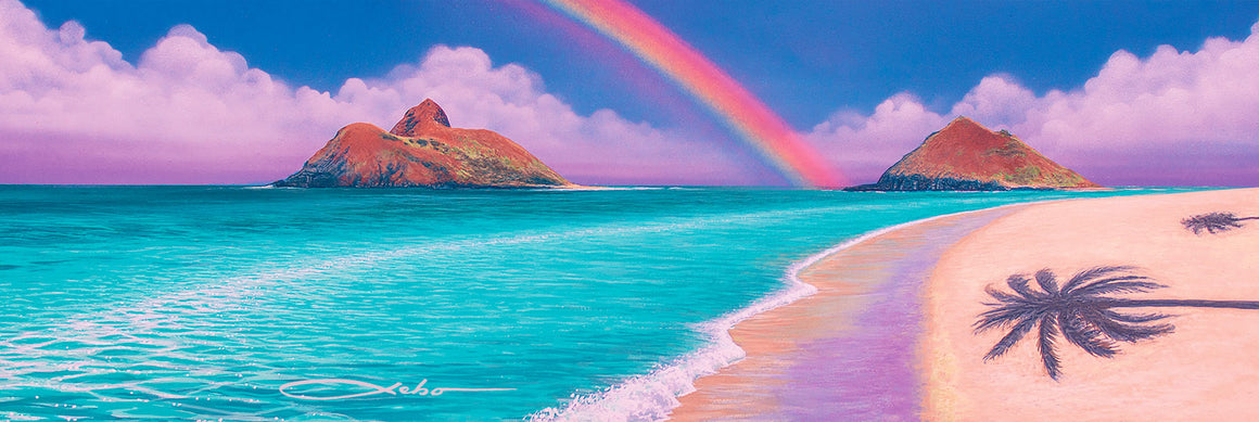 """Over the Rainbow"" Original Painting - SeboArt.com"