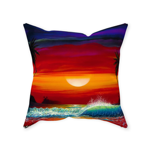 """Long Kiss Goodnight"" Throw Pillows"