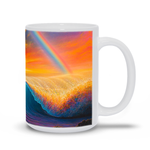 """Sunset at Shark's Cove"" Mugs"