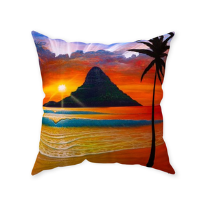 """Another Day in Paradise"" Throw Pillows"