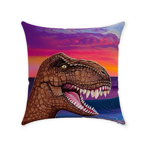 """Jurassic Paradise""  Throw Pillows"