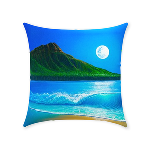 """Blue Hawaii"" Throw Pillows"