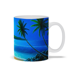 """Blue Hawaii"" Mugs"