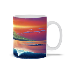 """Early Waikiki"" Mugs"