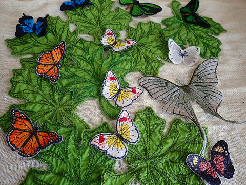 Butterflies & leaves