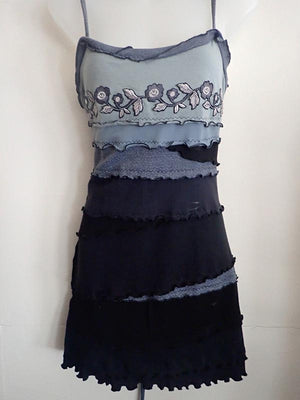 Black roses Summer dress