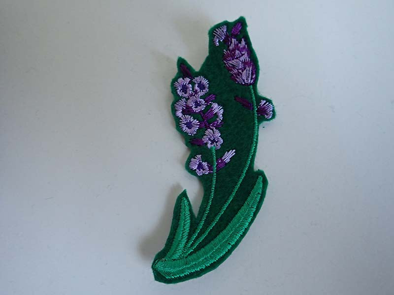 Flower iron on patch