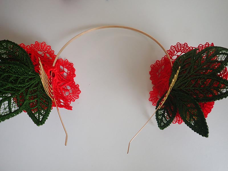 Rose crown fascinator