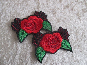 Red roses. Iron on patches