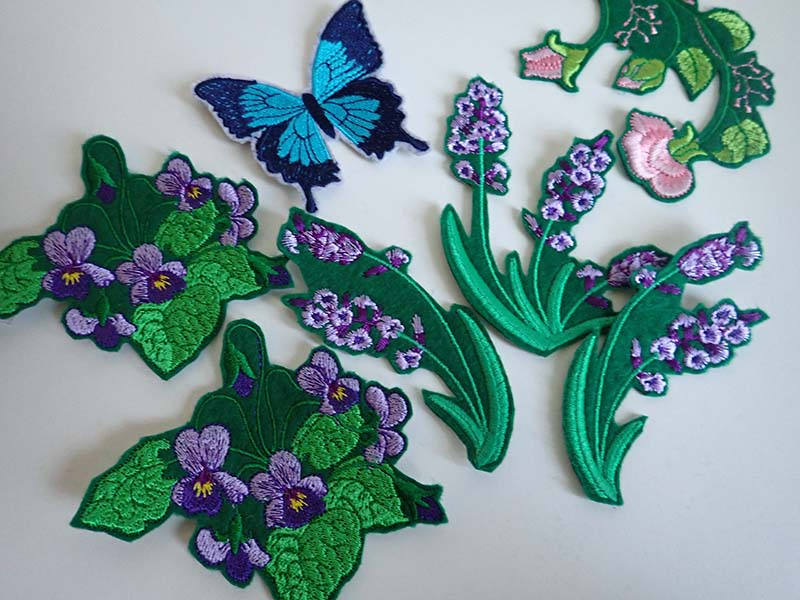 Flower iron on patches