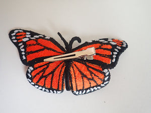 Monarch butterfly hair clip